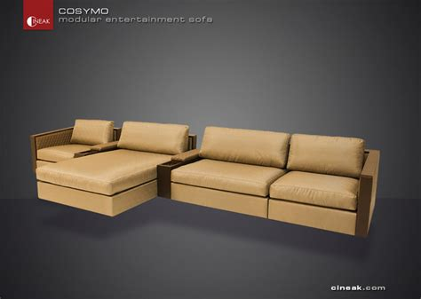 entertainment sofa furniture cineak cosymo modular entertainment sofa modern