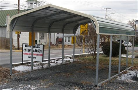one car carport 12x21 regular roof get metal carport pricing 12x21 regular metal carport alan s factory outlet