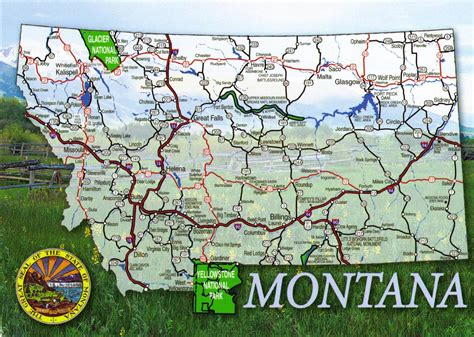 maps of montana usa