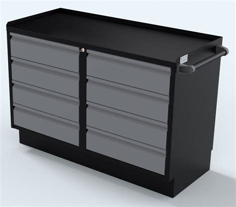 48 inch base cabinet silver 48 inch two sets of 4 drawer professional grade
