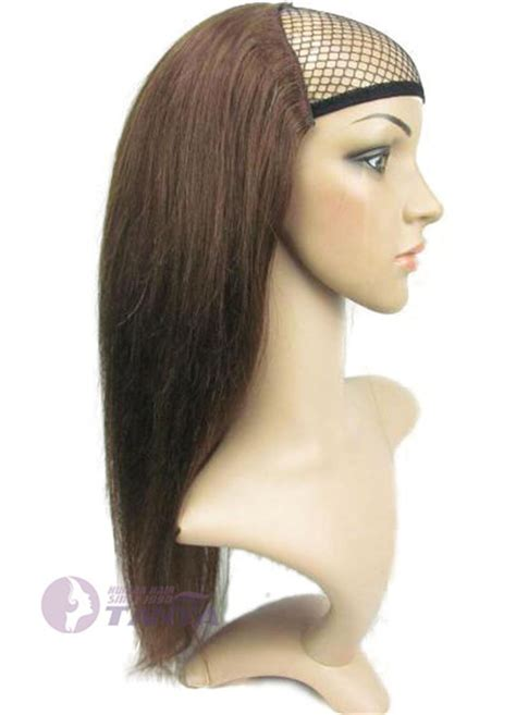 half wig 16 quot 28 quot 140g 260g 100 human hair half wig pretty easy use