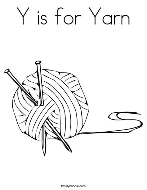 coloring pages for yarn y is for yarn coloring page twisty noodle