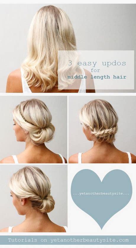 5 min updo hairstyles for medium length hair 10 easy hairstyles for medium length hair