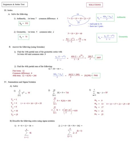Arithmetic Sequence Worksheet Algebra 1 by Math Plane Sequences And Series I