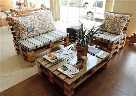 Affordable Adorable And Artistic Pallet Project Plans Handmade Living Room Furniture