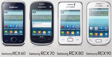 Samsung A Series Phone samsung rex series phones 60 70 80 90 comparison images 3640 techotv