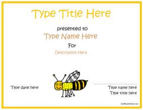 Spelling Bee Award Certificate Template by Blank Certificates Bee Award Certificate