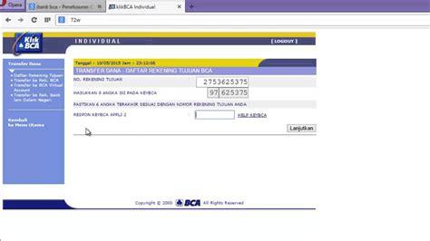 tutorial online banking tutorial program payment internet banking bca transaksi