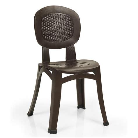 sedia vimini sedia in plastica effetto vimini elba wicker nardi