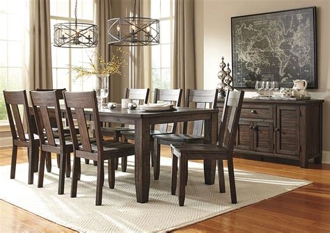 jarons trudell golden brown rectangular dining room