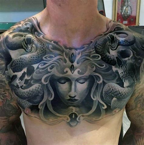 80 medusa tattoo designs for men snakes to stone