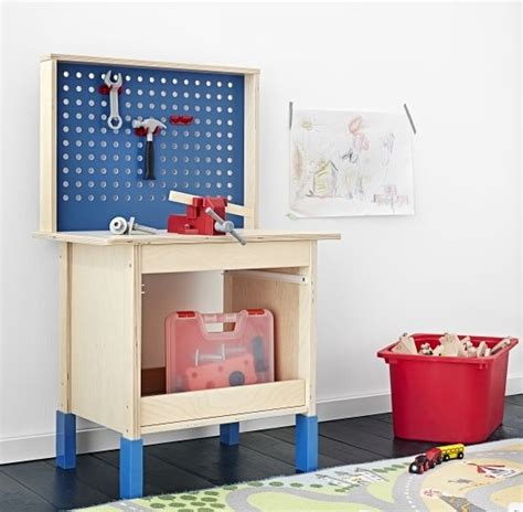 ikea toy bench gifts for kids duktig work bench because of feet that
