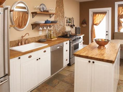 Cottage Kitchen Countertops by Cottage Kitchen With Butcher Block Countertops Hgtv