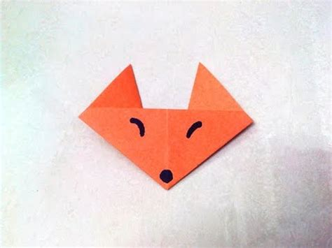 Paper Folding Work - how to make an origami paper fox origami paper folding
