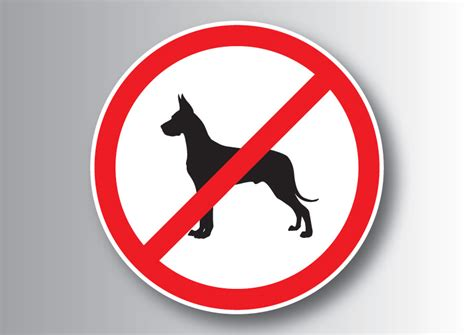 no puppies no dogs sign free vector illustration