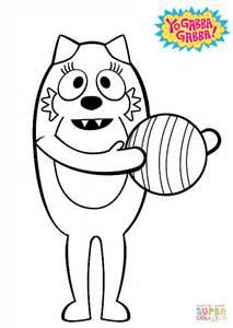 yo gabba gabba coloring pages games toodee with ball coloring page free printable coloring pages