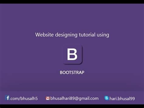 tutorial create website with bootstrap setup workspace website design tutorial using bootstrap