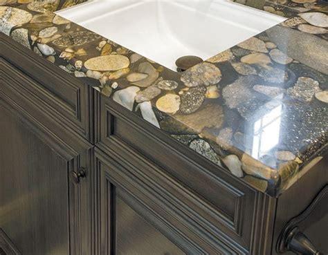 River Rock granite creates a unique countertop in this