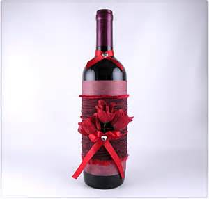 Decorated wine bottle gina tepper