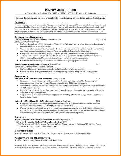 Laboratory Assistant Sle Resume by 6 Laboratory Assistant Cv Ledger Paper