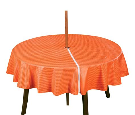 patio table cover with zipper stripe design by