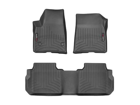 weathertech floor mats floorliner for gmc acadia w bench 2017 cocoa
