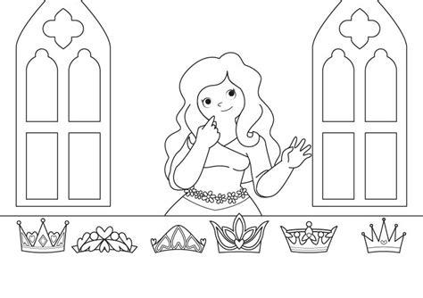 dibujos de princesas para colorear corona de princesa la corona de la princesa dibujo para colorear e imprimir