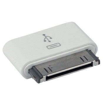 adaptateur micro usb 30 broches compatible pour 3 iphone 4 4s ipod touch blanc