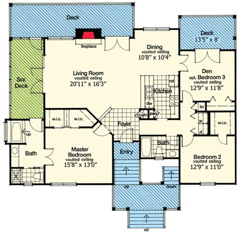key west home plans key west style retreat 6383hd 1st floor master suite