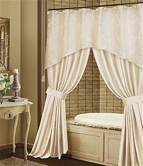 bathroom valance curtains shower curtain with valance dillards bathroom ideas pinterest