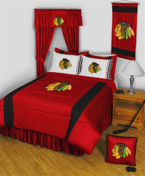 nhl chicago blackhawks queen full comforter set 3pc