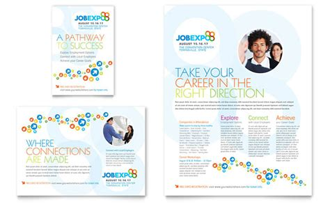 jobs layout design job expo career fair flyer ad template design