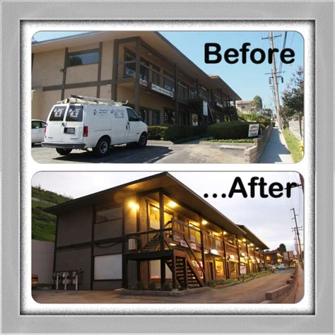 light property management before and after renovations of a light prop in