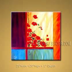 enchant large wall for bathroom decor poppy flower