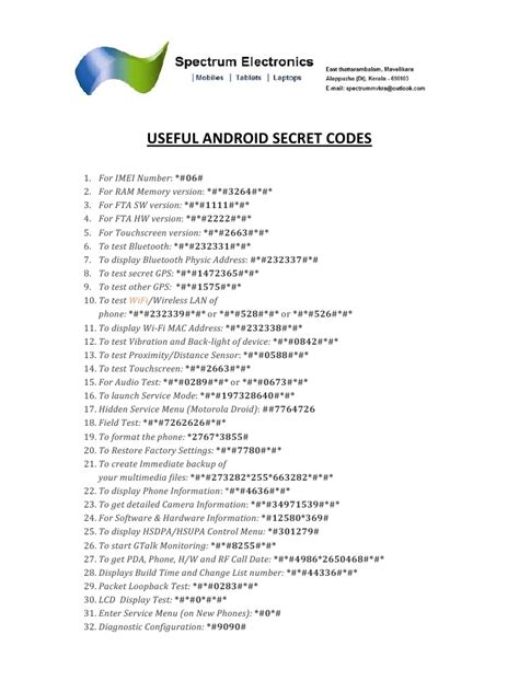 android secret codes android secret codes pdf pdf archive