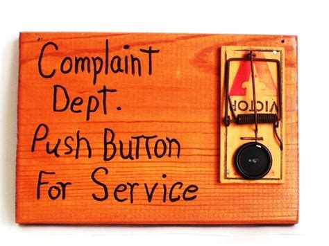 Complaint Department by Complaint Dept Push Button Hanging This Up On My