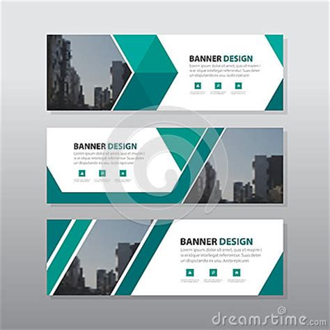 design banner office green triangle abstract corporate business banner template