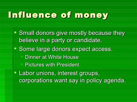 chapter 7 section 3 money and elections chapter 7 section 3 money and elections