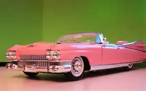 Vintage Cadillac Cars Pink Convertible Cars For