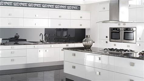White Gloss Kitchen Cabinets by Reflections High Gloss White Kitchen Modern Kitchen