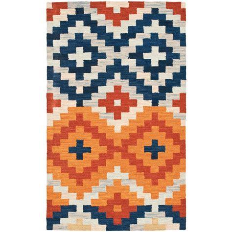 1 x 2 ft rug safavieh chelsea orange multi 1 ft 8 in x 2 ft 6 in
