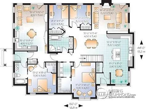 Home Design For Extended Family D 233 Du Plan De Maison Multi Logements W3043