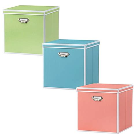 bed bath and beyond storage bins real simple 174 foldable storage box bin with lid bed bath