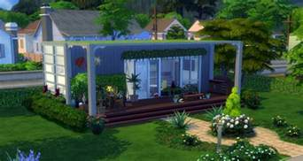 House Builder Online The Sims 4 Building Challenge Container House Sims Online