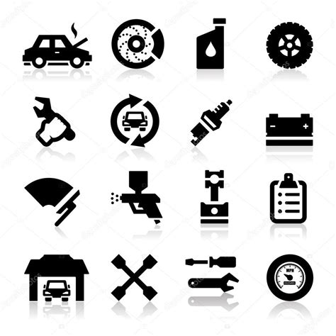 auto repair icons stock vector  tantoon