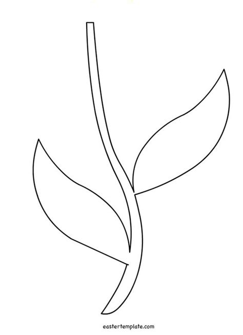 Flower Stem Template printable flower stem template stencils