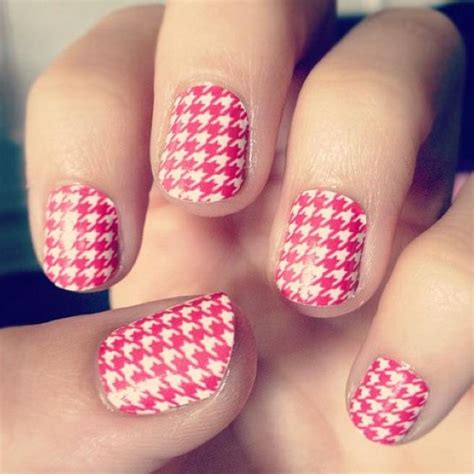 houndstooth pattern nails houndstooth nail pinterest nail art nails and art