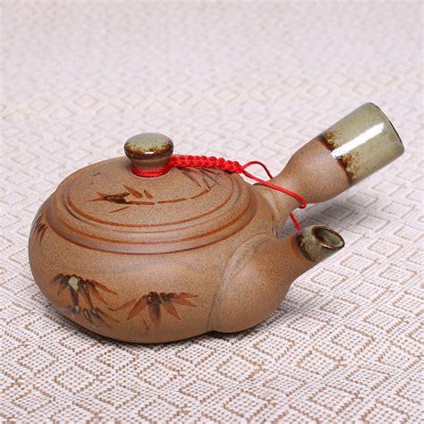 Bamboo Handmade - china bamboo pattern pottery teapot gongfu tea bamboo
