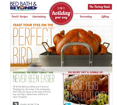 bed bath and beyond thanksgiving 5 strategies for capturing the thanksgiving market with your email caigns