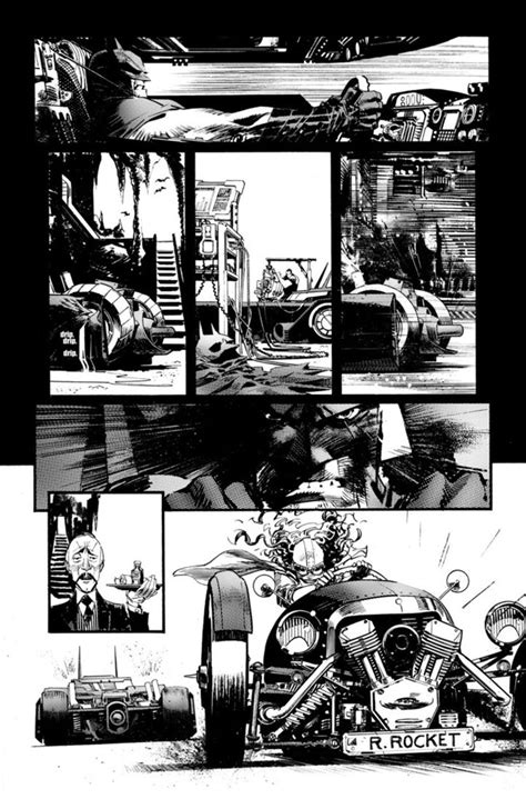 Superhero Comics Showcased In Beautiful Black And White